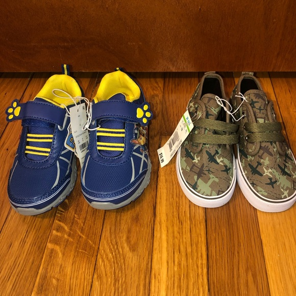 12871879125a53 Lot of 2 Boys Toddler Sneakers in 10c Paw Patrol